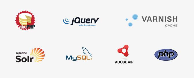 MDAsystems - technologie - jQuery, Varnish, Apache Solr, PHP, Adobe AIR, CakePHP, MySQL