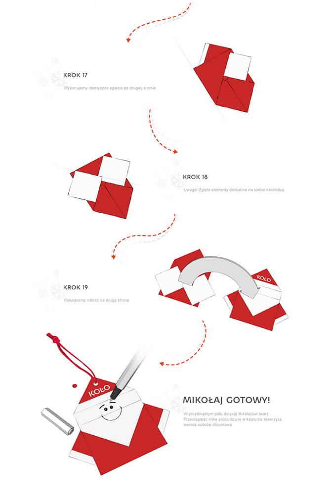 Świąteczne origami Sanitec KOŁO