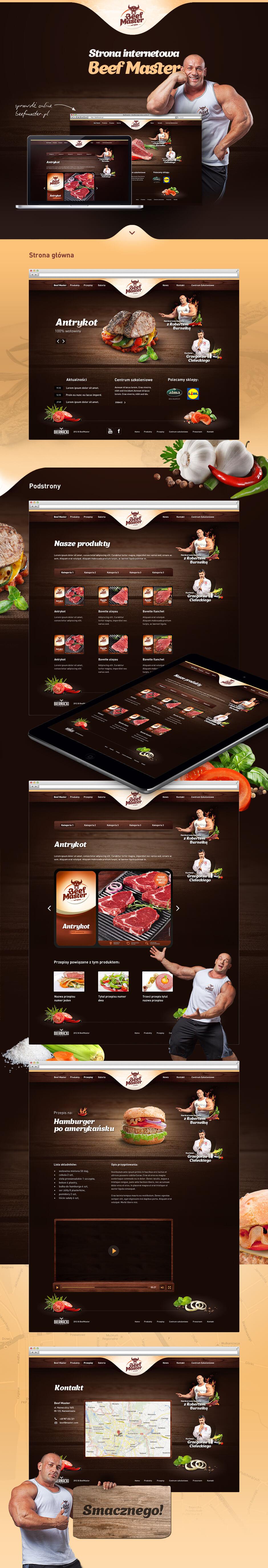 Strona internetowa dla Zakładu Przemysłu Mięsnego