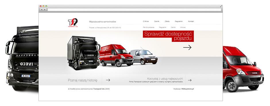 Strona internetowa z rezerwacją pojazdów.
