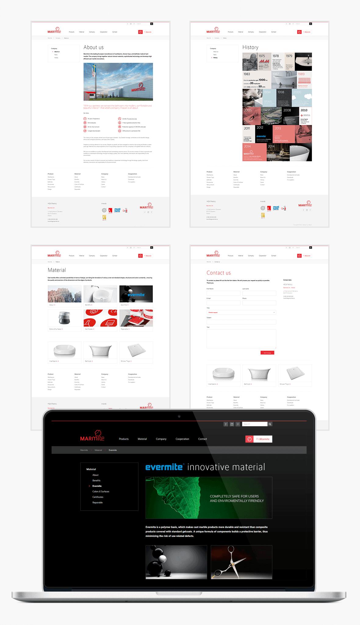 Strona internetowa, katalog produktów i API