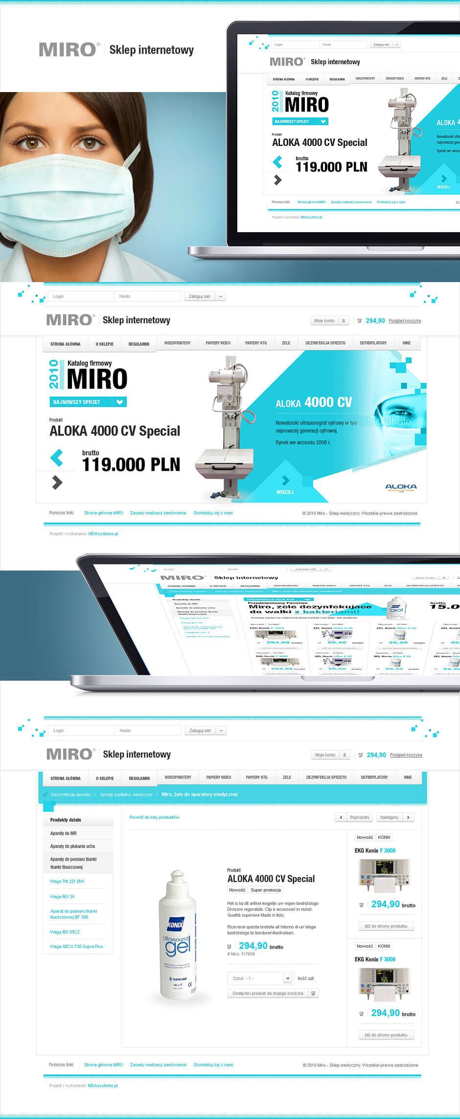 Strona www dla branży medycznej