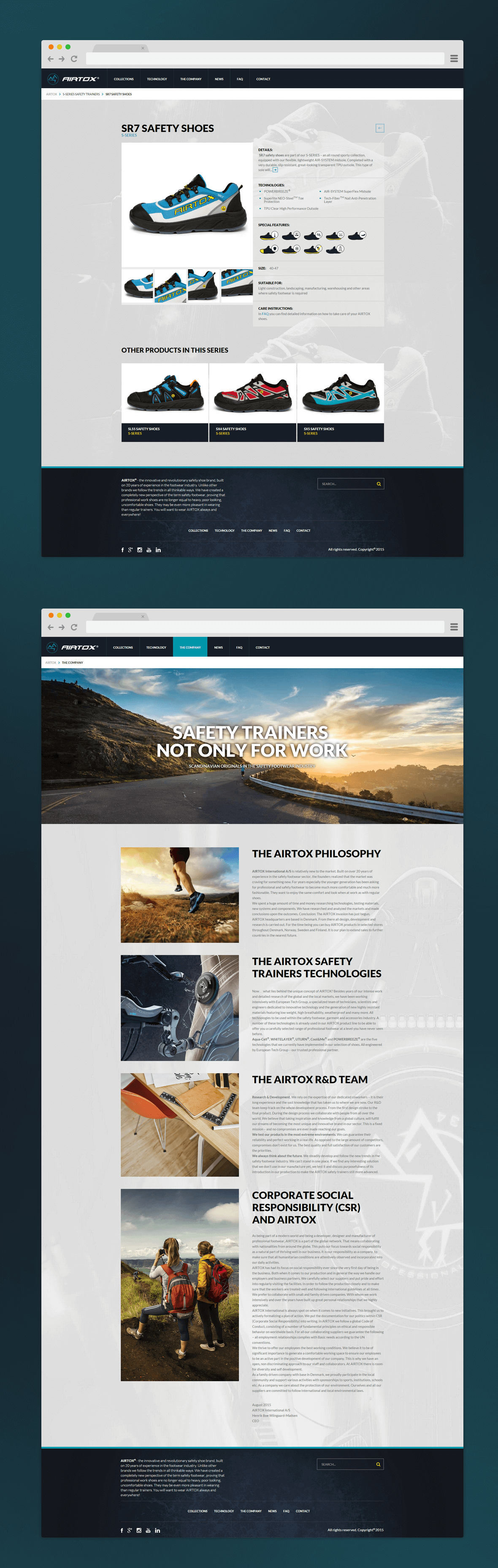 Strona z CMS WordPress