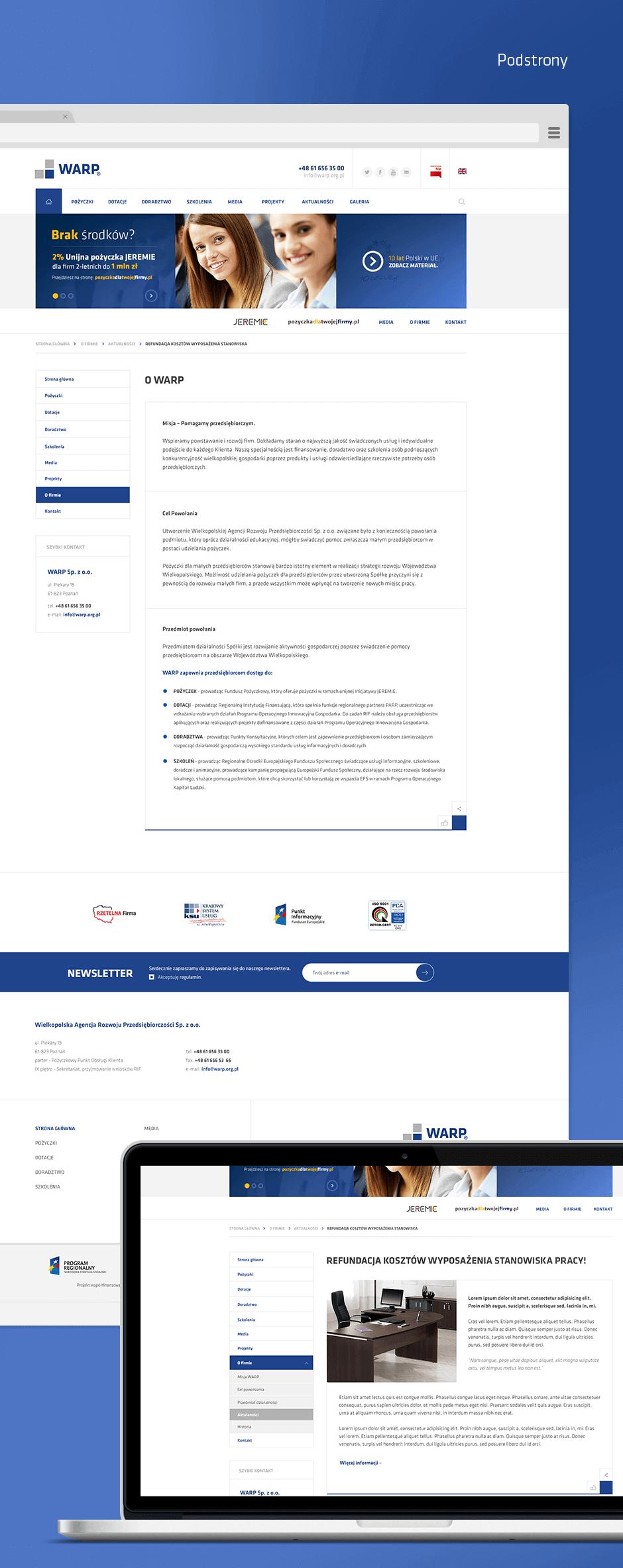 Strona korporacyjna z CMS WordPress