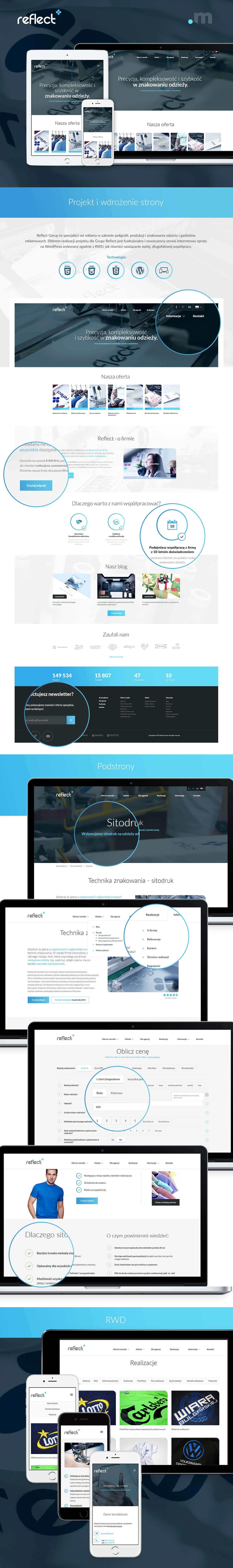 Strona z systemem WordPress