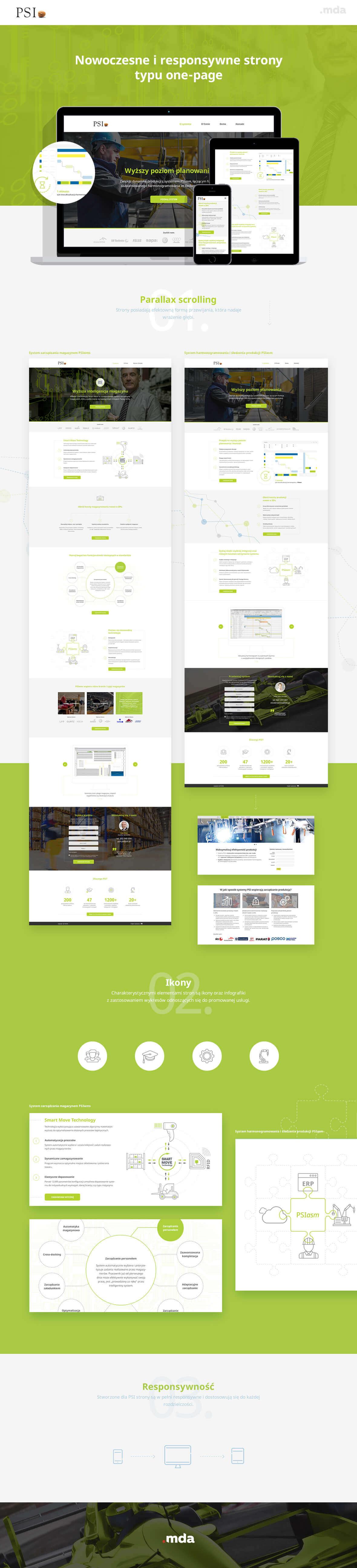 Wizerunkowe strony typu one-page