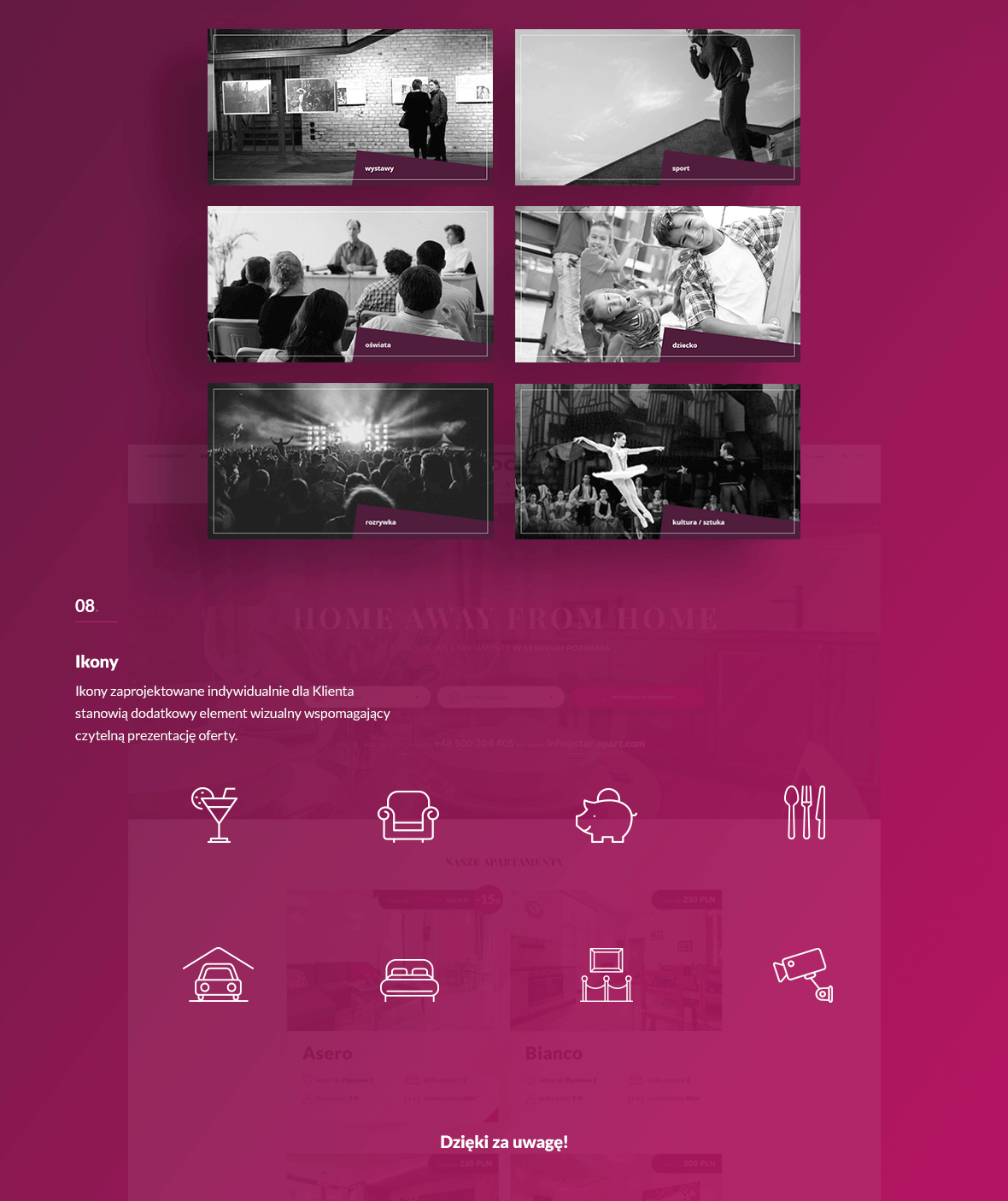 Strona internetowa z systemem rezerwacji